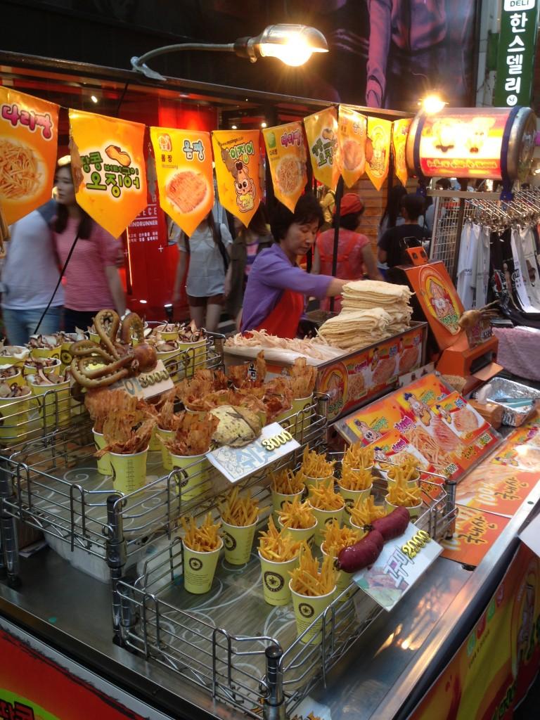 Myeongdong'da Sokak Yemekleri