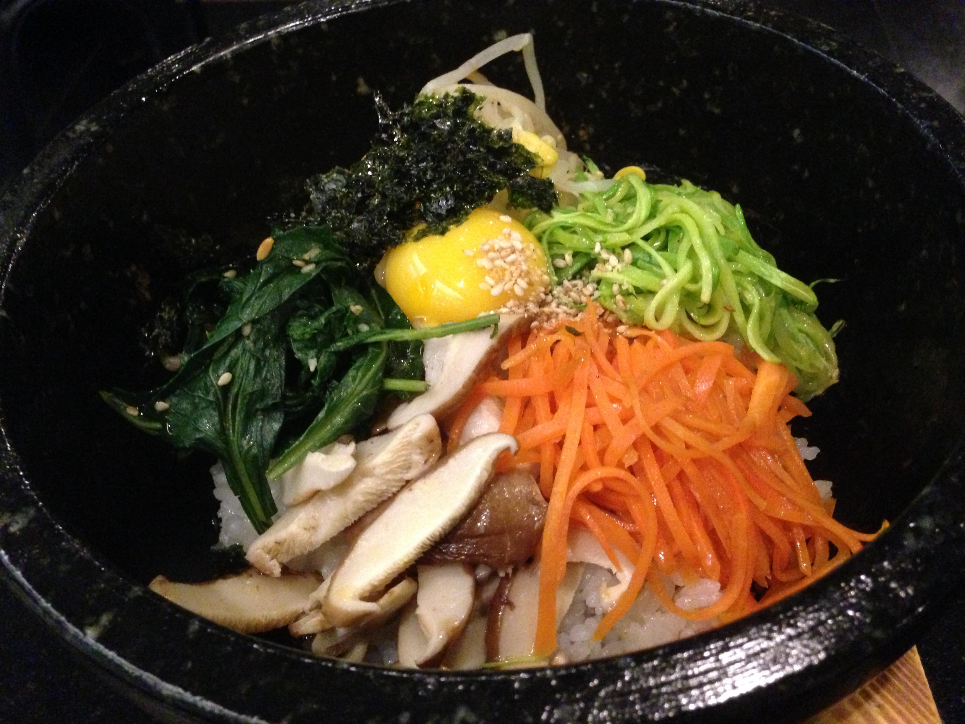 O Korece tavuk içinden. Korece sıcak atıştırmalık He