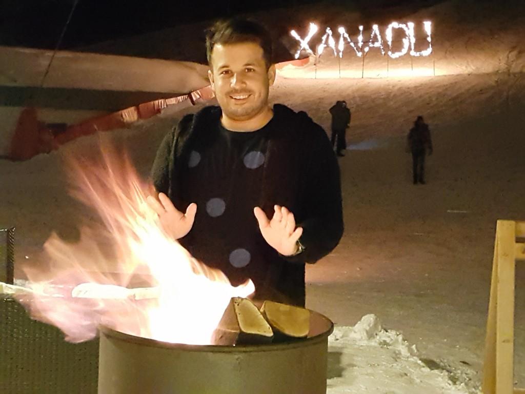 Son gece düzenlenen Snow Mania showundan...