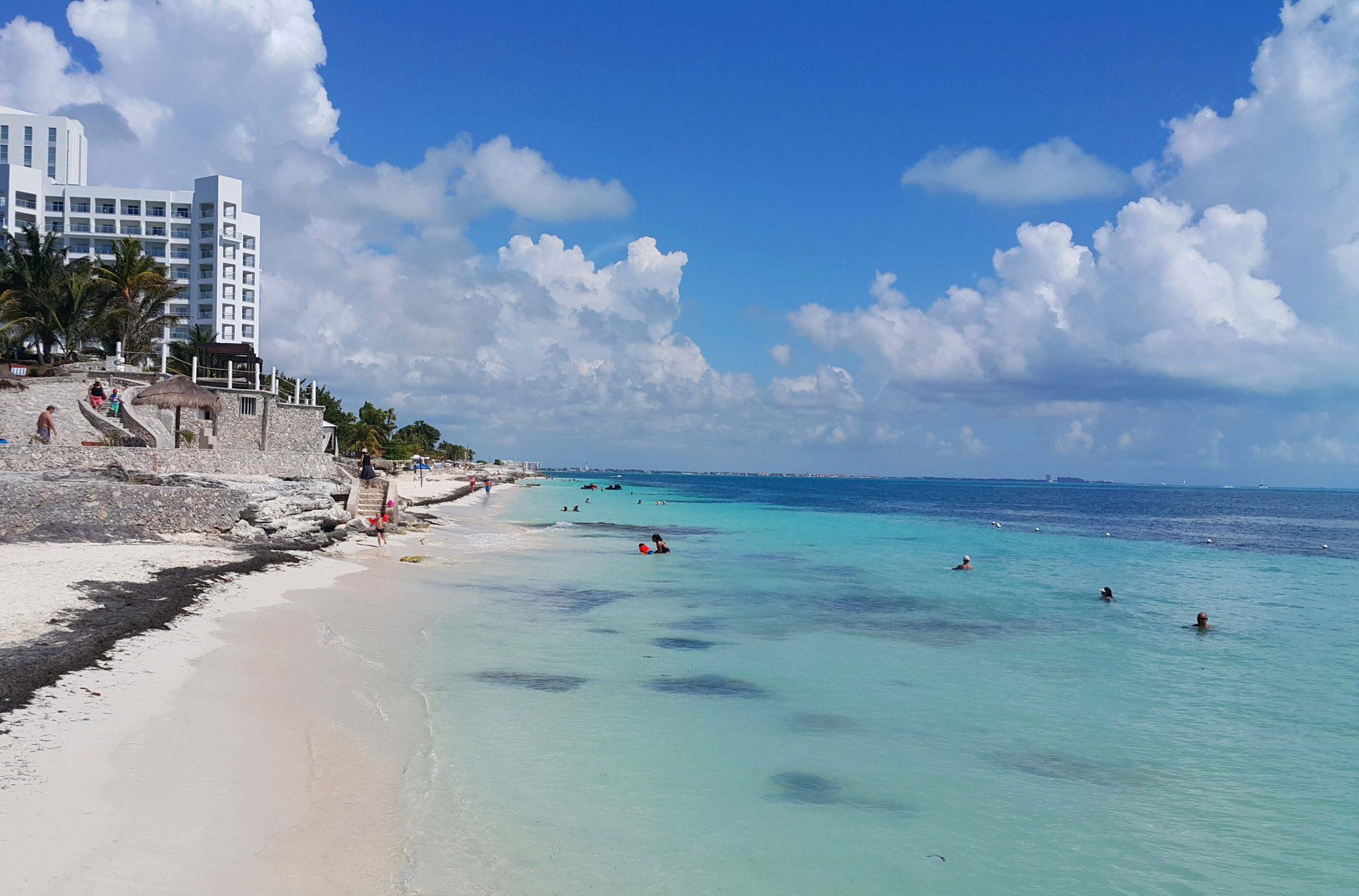 Cancun'un muhteşem plajlarından biri