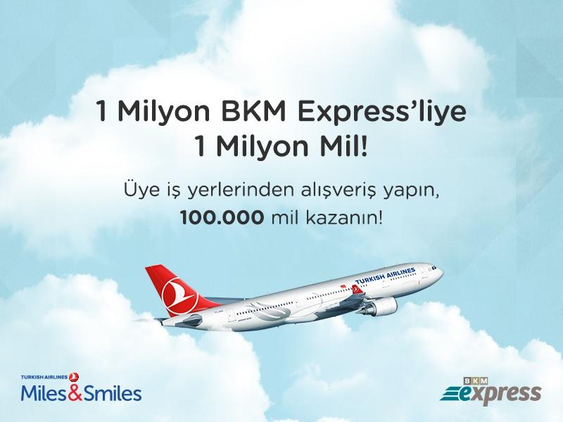 BKM Express'ten 1 milyon Mil…