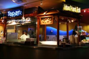 Todai'de dilerseniz teppan ızgarasıyla yapılan yemeklerdende sipariş verebilirsiniz