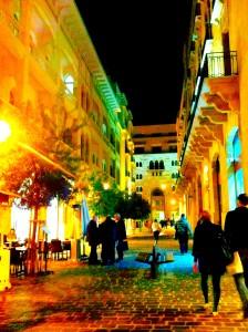Downtown Beyrutta her geceleri her sokak ışıl ışıl