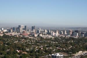 Getty Center'dan şehir görüntüsü