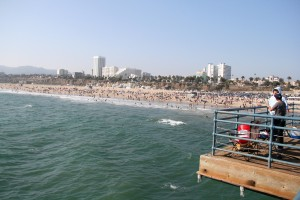 Pier'den Santa Monica görüntüsü