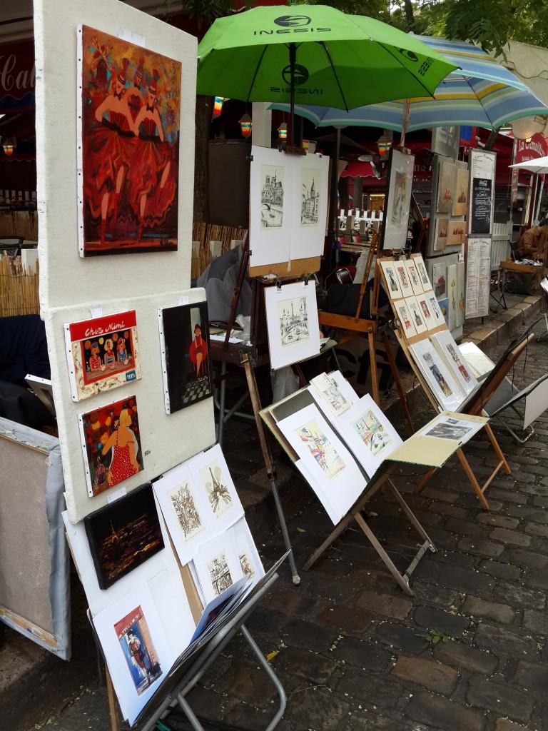 Ressamlar Tepesi Montmartre'de Satılan Eserler