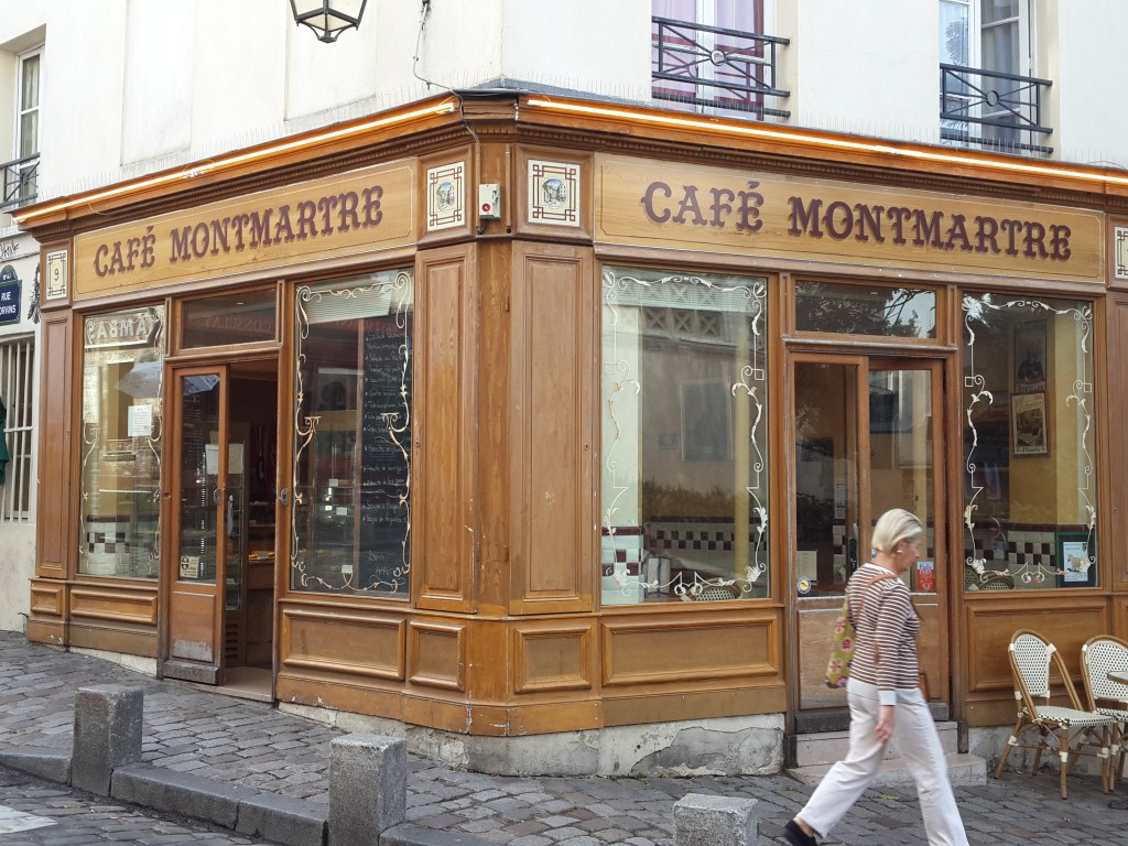 Monmertre'de Kahvaltı Yaptığımız Kafe