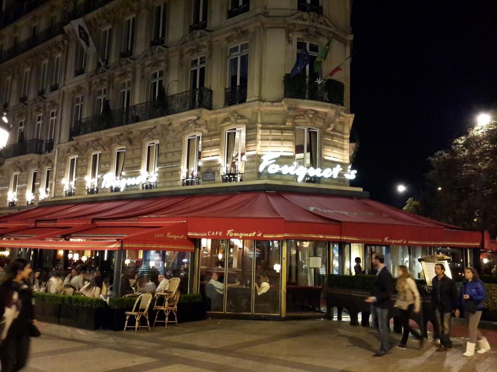 Paris'in en ünlü Kafelerinden biri olan Fouguet's