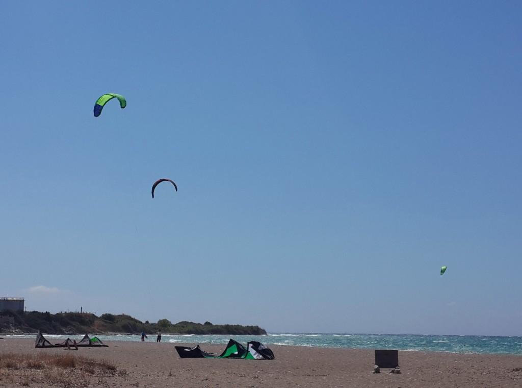 Rodos'da Kite Surf Olduka Rağbet Görüyor...