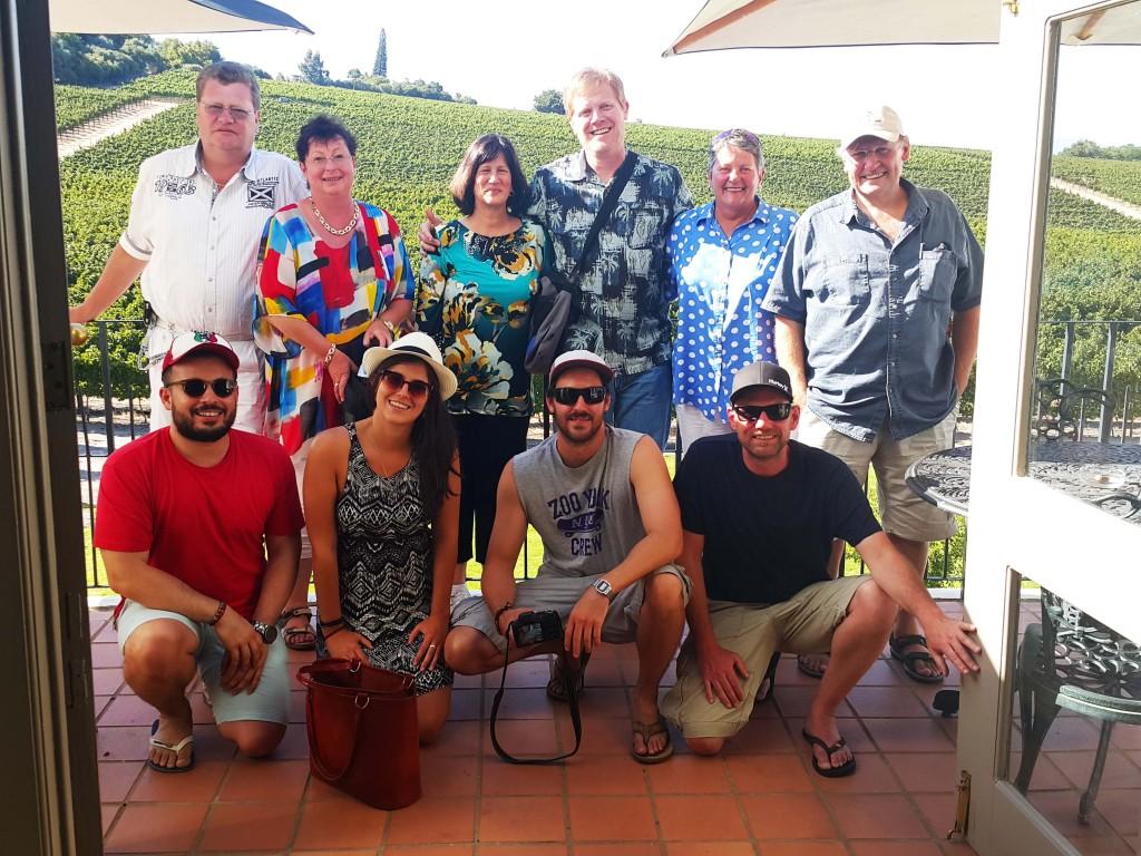 Şarap turu ekibimiz çok eğlenceliydi...