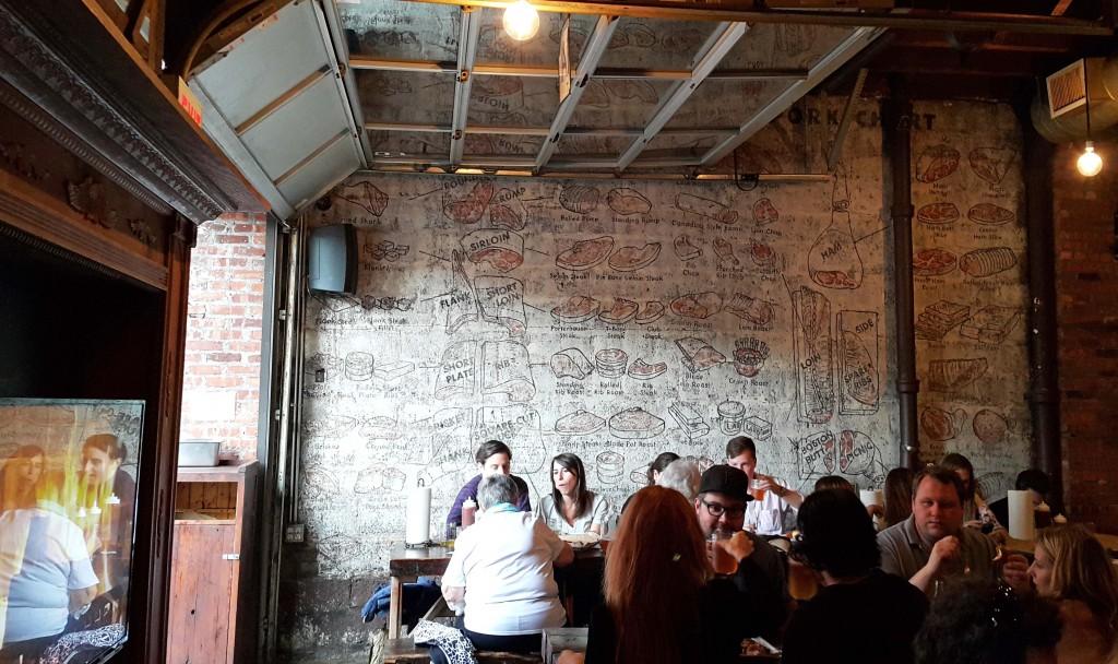 Williamsburg'deki Fette Sau adlı Barbekü Restoranı