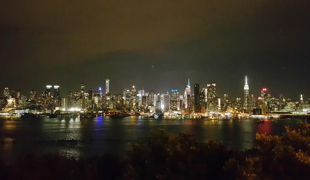 New Jersy'den Manhattan manzarası