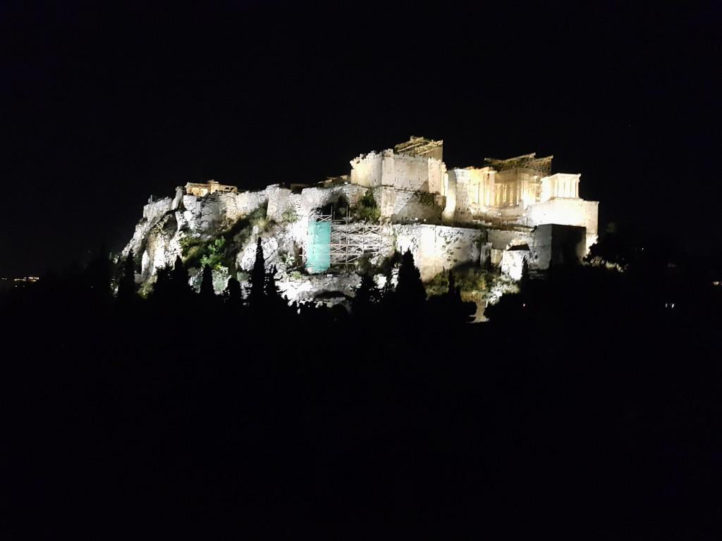 Areopagus'dan Akropol manzarası