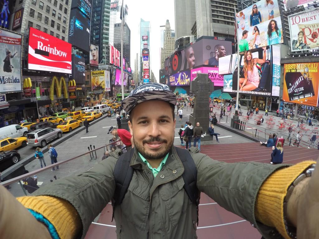 Times Square'de Go Pro Selfiesi