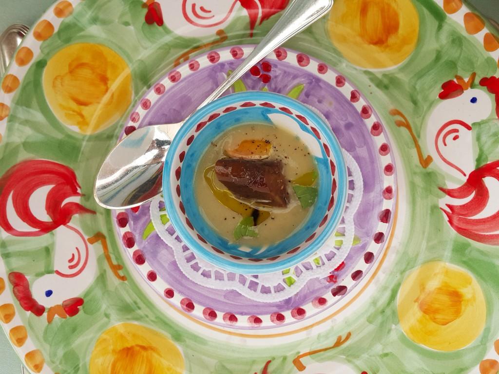 Le Sirenuse patlıcan çorbası