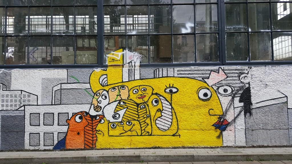 Leipzig'de çok renkli sokak sanatları var