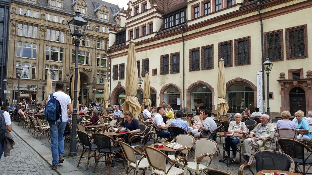 Leipzig'de Kafeler hep dolu