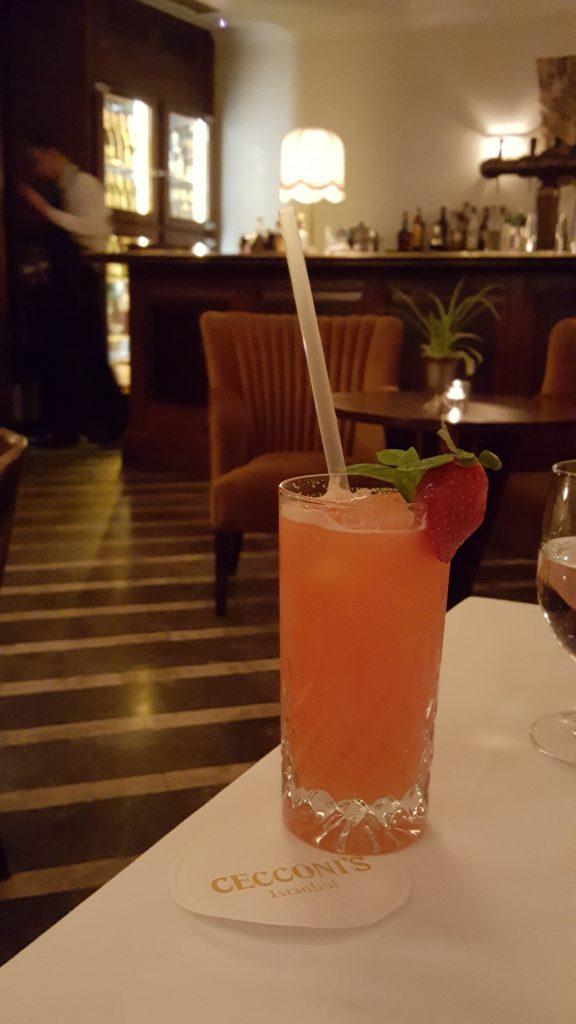 Çilekli Mocktail de çok iyiydi